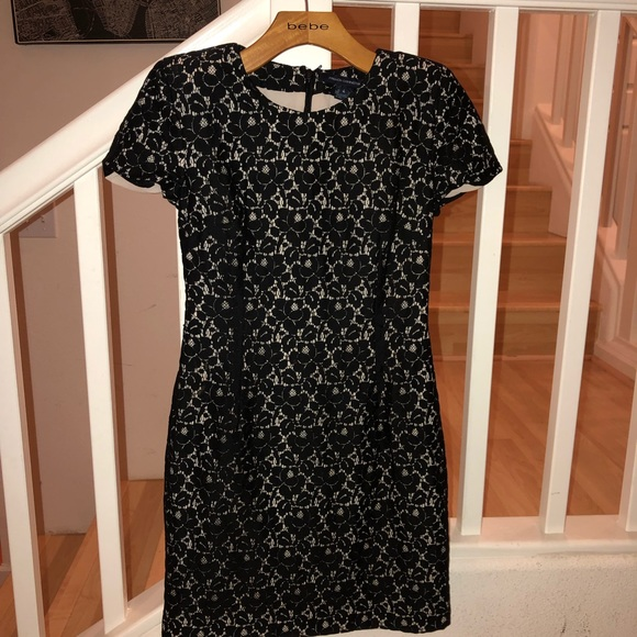 French Connection Dresses Black Cap Sleeve Dress 4 Poshmark